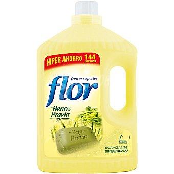 FLOR suavizante concentrado Heno de Pravia formato ahorro  botella 144 dosis