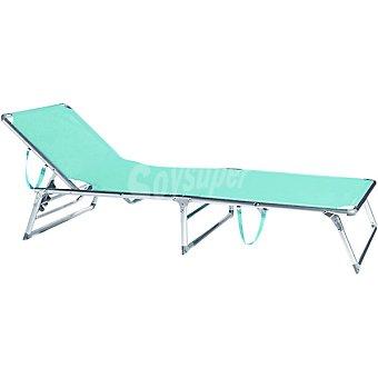 CASACTUAL Tumbona de posiciones en aluminio color turquesa