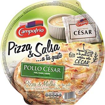CAMPOFRIO Pizza César con cebolla y salsa césar  Envase de 350 g