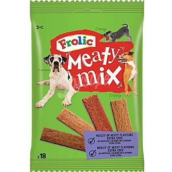 FROLIC MEATY MIX Tiras de carne para perro 18 unidades envase 103 g 18 unidades