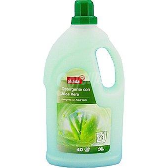 Aliada Detergente máquina líquido con aloe vera 40 dosis botella 3 l 40 dosis