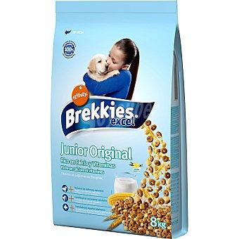 BREKKIES EXCEL 1 a 12 meses con pollo rico en calcio para cachorros bolsa 8 kg Bolsa 8 kg