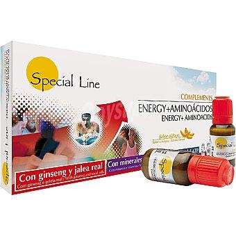 SPECIAL LINE Energy y Aminoázidos Sabor plátano con jalea real y ginseng más vitaminas viales 15 ml estuche 10 unidades 15 ml