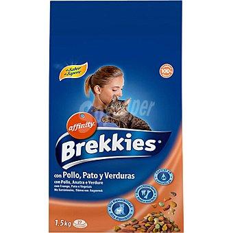 AFFINITY BREKKIES EXCEL MIX Para gato con pollo y verduras bolsa 1,5 kg Bolsa 1,5 kg