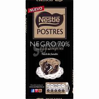 Postres Nestlé Chocolate postres negro intenso 200 g