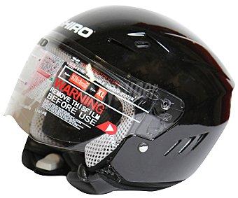 SHIRO Casco de moto homologado, de color negro y talla XL 1 unidad