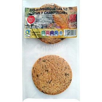 INTEGRAL ARTESANS Hamburguesa de seitan y champiñones Paquete 180 g
