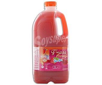 Auchan Bebida refrescante de zumo de frutas (fresa, naranja) Botella de 2 L