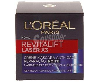 L'Oréal Noche crema efecto mascarilla anti-edad Revitalift Laser X3 Tarro 50 ml