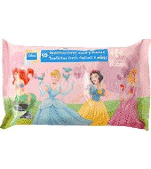 Carrefour Kids Toallita cara y manos princes 50 ud