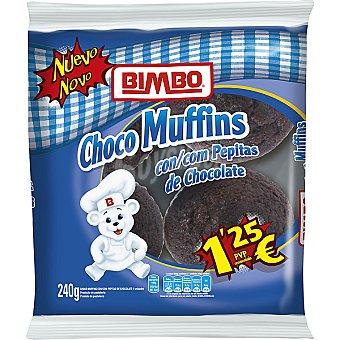 Bimbo Choco Muffins con pepitas de chocolate Bolsa 240 g