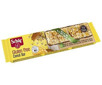 Schär Barrita de cereales con chocolate con leche sin gluten, 25 gramos