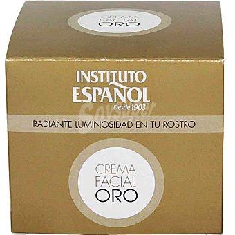 INSTITUTO ESPAÑOL Crema nutritiva Oro radiante luminosidad en tu rostro  tarro 50 ml