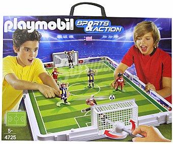 Playmobil Set de fútbol en maletín, incluye 6 figuras, modelo 4725 Sport & Action 1 unidad