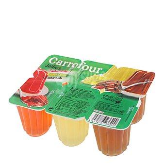 Carrefour Postre gelatina mixto 6x100 g 6 ud