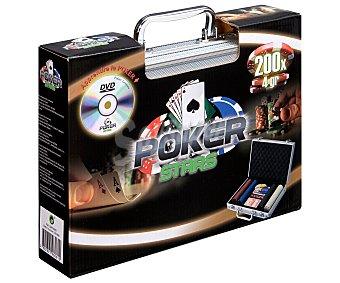 Juegos Maletín de póker con fichas, cartas y dvd, juegos
