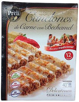 Preli Canelones carne bechamel congelado Paquete 12 u