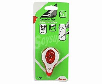 Auchan Mini cinta correctora de 4.2 milímetros, con grip suave 6 metros