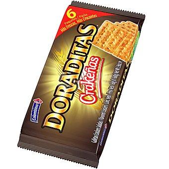 Colombina Crackeñas Doraditas crackers paquete 168 g 6 unidades