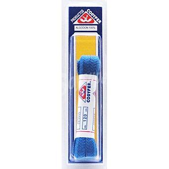CODYFER Cordones planos azules 120 cm