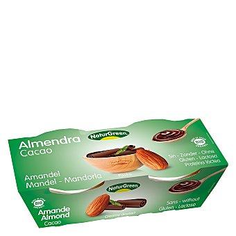 Naturgreen Postre almendra cacao - Sin Gluten Pack de 2x125 g