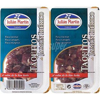 JULIAN MARTIN Taquitos de jamón ibérico Pack 2 envases 75 g