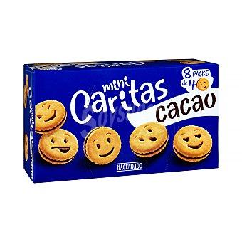 Hacendado Galletas mini caritas con crema de cacao  Paquete de 329 g