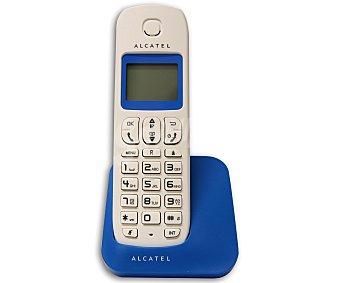 ALCATEL E130 Teléfono inalámbrico Dect Blanco/azul, identificador de llamadas, pantalla iluminada, agenda para 50 contactos.