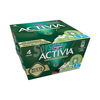 Activia Danone Activia 0% con kiwi 4 unidades de 125 g
