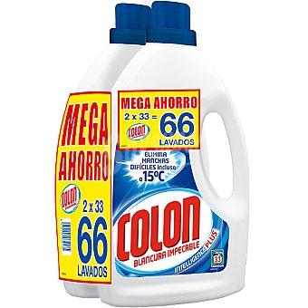 Colón Detergente máquina líquido gel azul Pack 2 botella 33 dosis