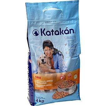 KATAKÁN Alimento Mix para perros con pollo, arroz y verduras Bolsa de 4 kg