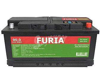 FURIA Batería de automóvil de 12v y 90 Ah, con potencia de arranque de 720 Amperios 1 unidad