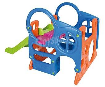 Feber Centro de actividades con tobogán infantil, colores brillantes, 153 x 89 x 87cm., FEBER.