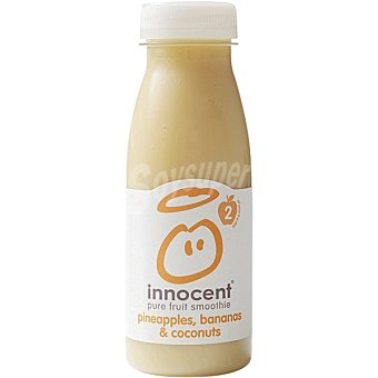 Innocent Pure fruit smoothie zumo suave de piña, plátano y coco botella 250 ml Botella 250 ml