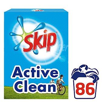 Skip Detergente máquina polvo Active Clean maleta 86 cacitos Maleta 86 cacitos