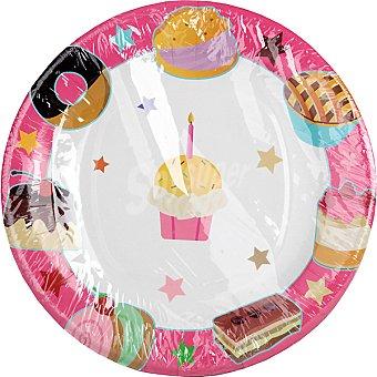 NV CORPORACION Plato decorado cookies 23 cm Paquete 8 unidades