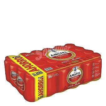 Amstel Cerveza rubia malta 100% pack 24 latas x 375 cc - 9000 cc