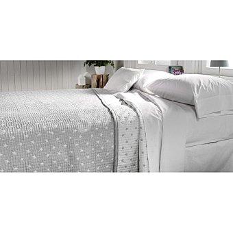 CASACTUAL Sofia Colcha jaquard con estrellas en color gris para cama 150 cm