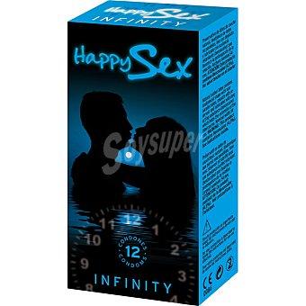 HAPPY SEX Preservativos Infinity Caja 12 unidades
