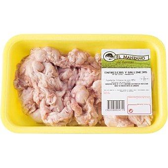 MANZANO Entresijos y gallinejas de cordero Bandeja 500 g peso aproximado