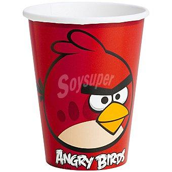 LIRAGRAM vasos cartón decorado Angry Birds  8 unidades
