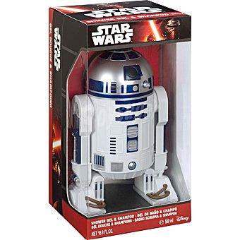 AIR VAL Star Wars R2-D2 gel de baño & champú 2 en 1 infantil figura 3D  envase 500 ml