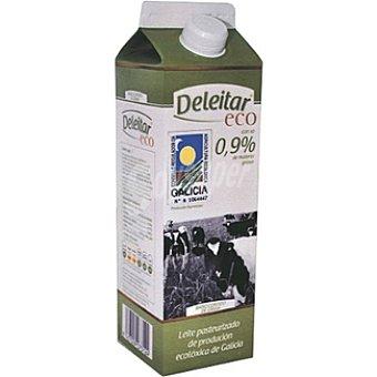DELEITAR Leche fresca entera ecológica baja en grasa Envase 1 l