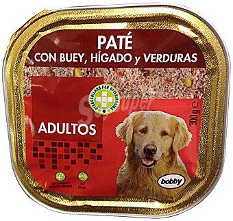 Bobby Comida perro adulto paté buey hígado verdura TARRINA 300 g