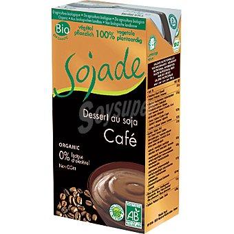 SOJADE postre de soja sabor café 100% vegetal ecológico y sin lactosa  envase 530 g