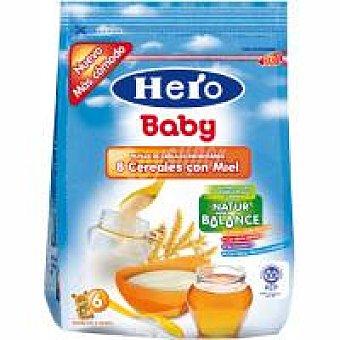 Hero Papilla Nb de 8 cereales con miel Bolsa 150 g
