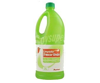 Auchan Lejía con detergente frescor limón 2 litros