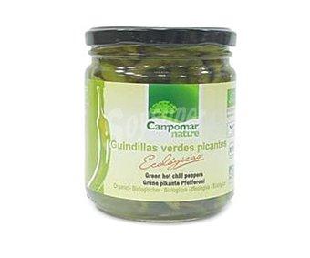 Campomar Nature Guindillas verdes picantes ecológicas campomar 150 gramos peso neto escurrido 150g