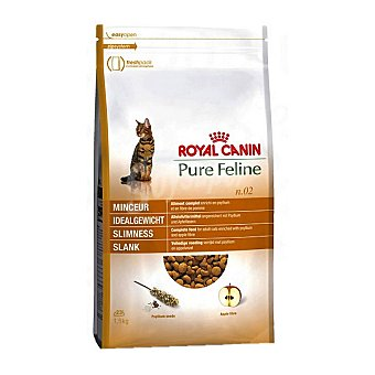 Royal Canin Alimento especial para ayudar a mantener la silueta del gato adulto Pure Feline Esbeltez Bolsa 1,5 kg