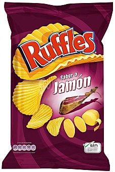 Ruffles Patatas fritas onduladas jamon Paquete 212 g